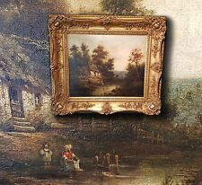 Flämische Bauernkate, schönes antikes Ölgemälde sign. FRANCIS 1840   Niederlande