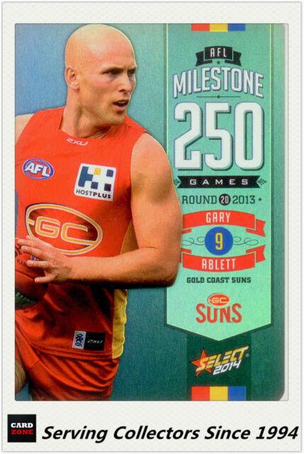 2014 AFL Champions Milestone Holofoil Card MG42 Gary Ablett (Gold Coast)