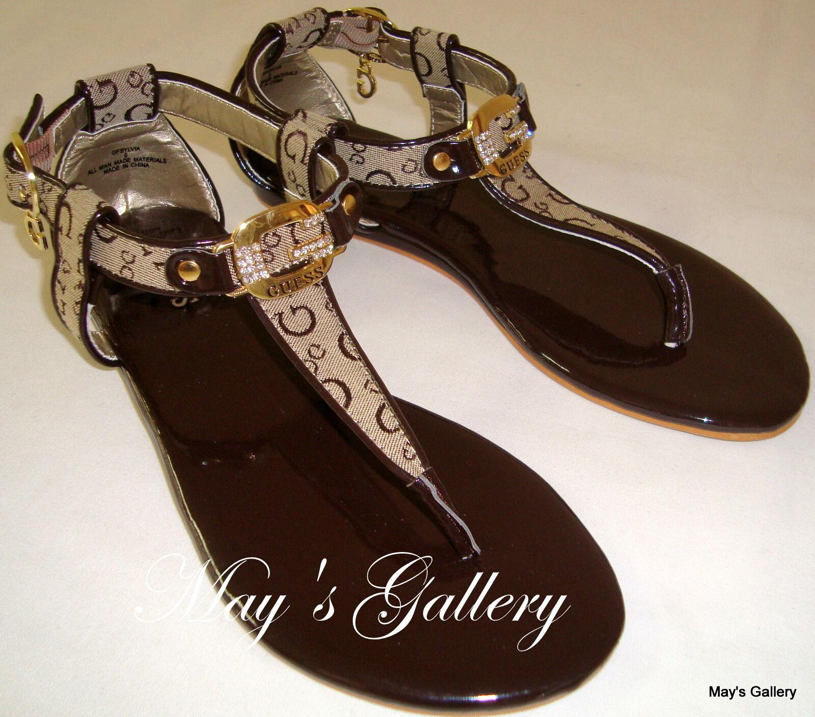 GUESS Thongs Flip Flop Slppers Sandals shoes Flops open Toe shoe T strap 6.5