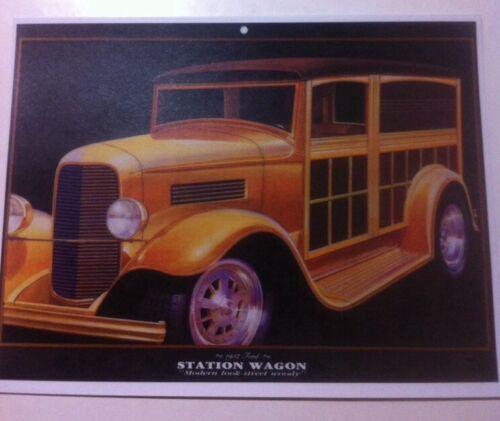 "/""1932 Ford Station Wagon Woody/"" Illustration 8x10 Reprint Garage Decor"