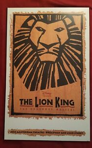 The Lion King The Broadway Musical Movie Poster Plak It Finished 22 X 14 Ebay