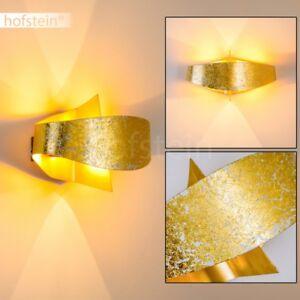 Design Wandlampe Flur Küchen Leuchte Schlaf Wohn Ess Zimmer up/&down goldfarbend