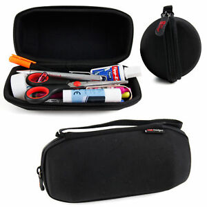 DURAGADGET-Hard-Pencil-and-School-Supplies-Case-w-Handle-and-Carabiner