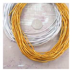 2mm-ROUND-GOLD-SILVER-ELASTIC-MILLINERY-CRAFT-STRETCHY-ELASTICATED-CORD