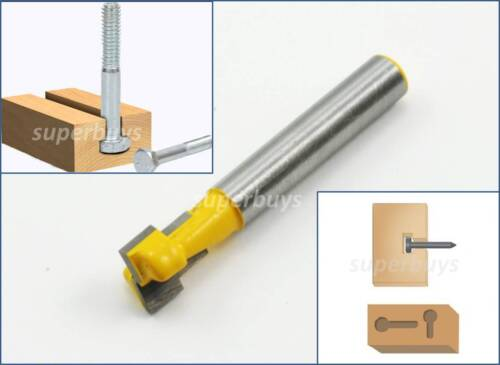 9.25mm T Slot Wood Keyhole Key Hole Cutter Bottom Router Bit Drill Press Milling