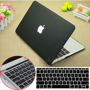 new product f5270 a065e 2in1 Black Rubberized Hard Case Cover Cut-out for MacBook Pro 13 ...