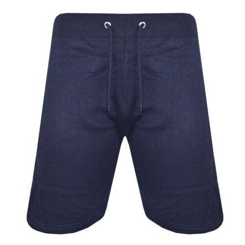 Mens Plain Elasticated Shorts Cotton Fleece Summer Holiday Casual Gym Pants