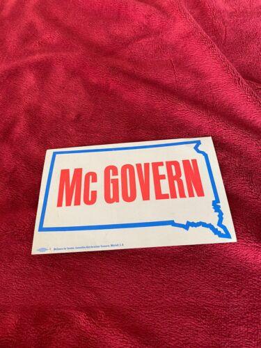 Vintage US Senator George McGovern Bumper Sticker SD 1963-1981. South Dakota