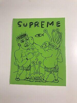 Supreme box logo sticker vinyl decal skateboard laptop Daniel Johnston logo