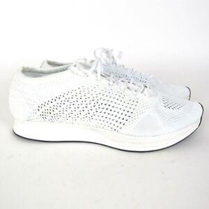 b34807ef3906 Nike Flyknit Racer Men s Running Shoes White Goddess 526628-100 Size ...