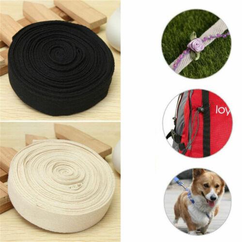 2//5M Cotton Webbing Herringbone Twill Tape Sew Strap DIY Apron Bunting 25mm
