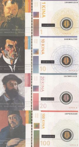 1st edition private issue UNC Artists Bougainville Set 4 banknote 2016