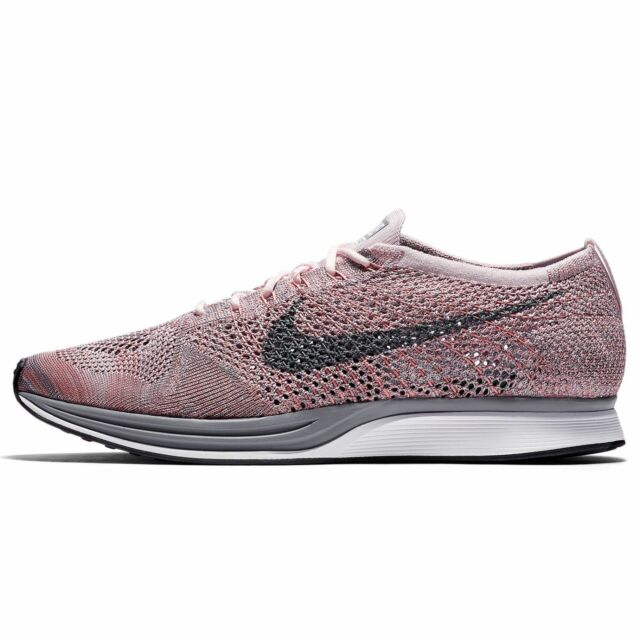 sports shoes 36d3d 39c55 NIKE FLYKNIT RACER PEARL PINK COOL GREY 526628 604 MSRP  150! RARE