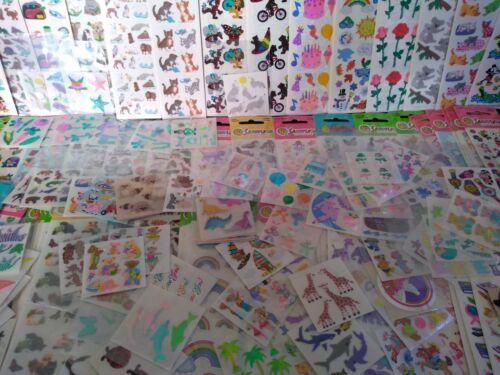 Vintage Stickers RANDOM LOT OF 5 SANDYLION MODS Mini Fuzzy Sparkle Prism VTG