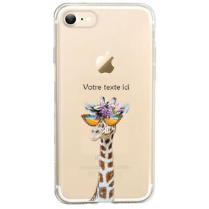 Coque Iphone 7 8 SE 2020 girafe lunettes personnalisee