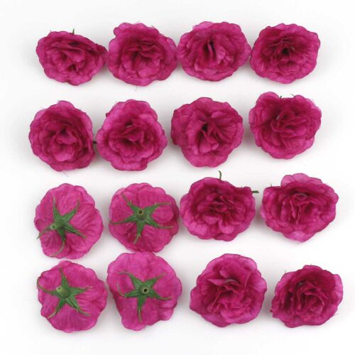100Pcs 4cm Artificial Silk Rose Flower Head Bulk garden Wedding Home Party Decor