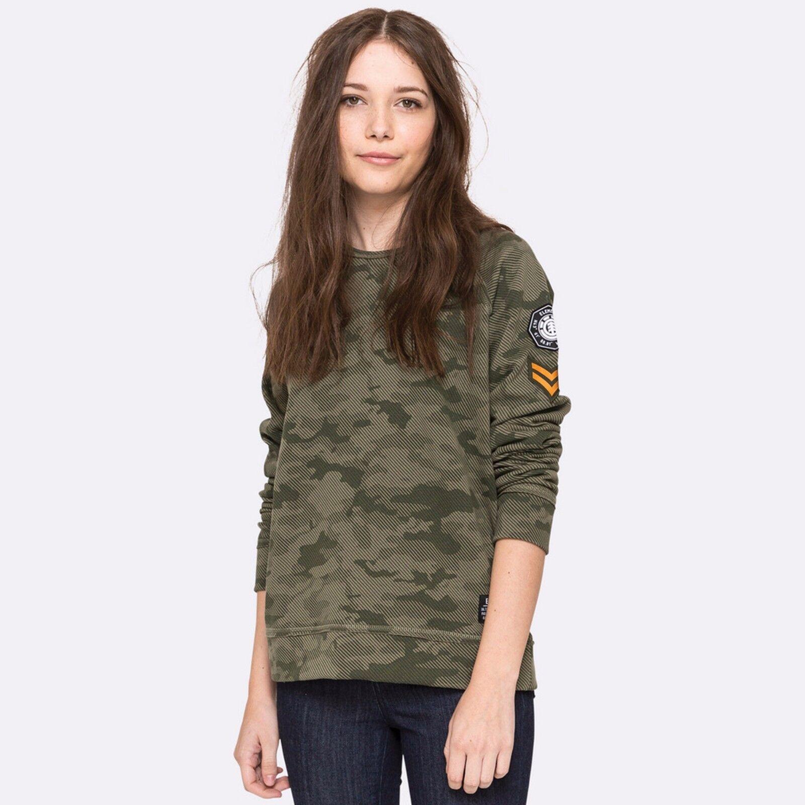 Felpa da donna militare Element Juno manica lunga girocollo cotone casual moda