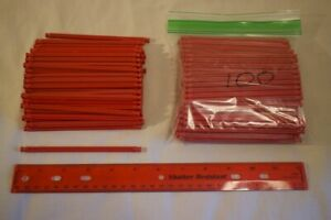100 K'NEX Standard Red Rods 5 1//8 Inch Replacement Bulk Parts Lot