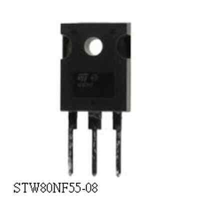 STP80NF55-08   TRANSISTOR-MOSFET N-CH 55V 80A TO-220 STP80NF55-08