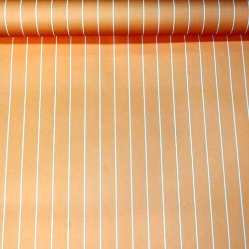 Orange Blanc Pinstripe rayures Papier Peint Enfants Garçons Filles Chambre Chambre Nursery