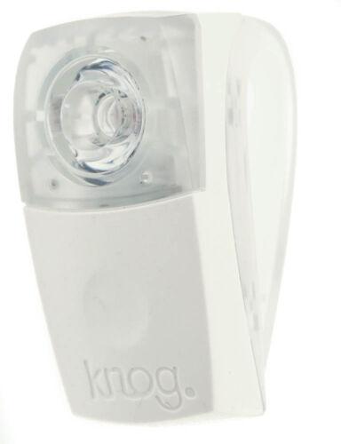 KNOG BOOMER Wearable Bike Rear White W// RED LED Light 7 Lumens 4 Mode 600m NEW