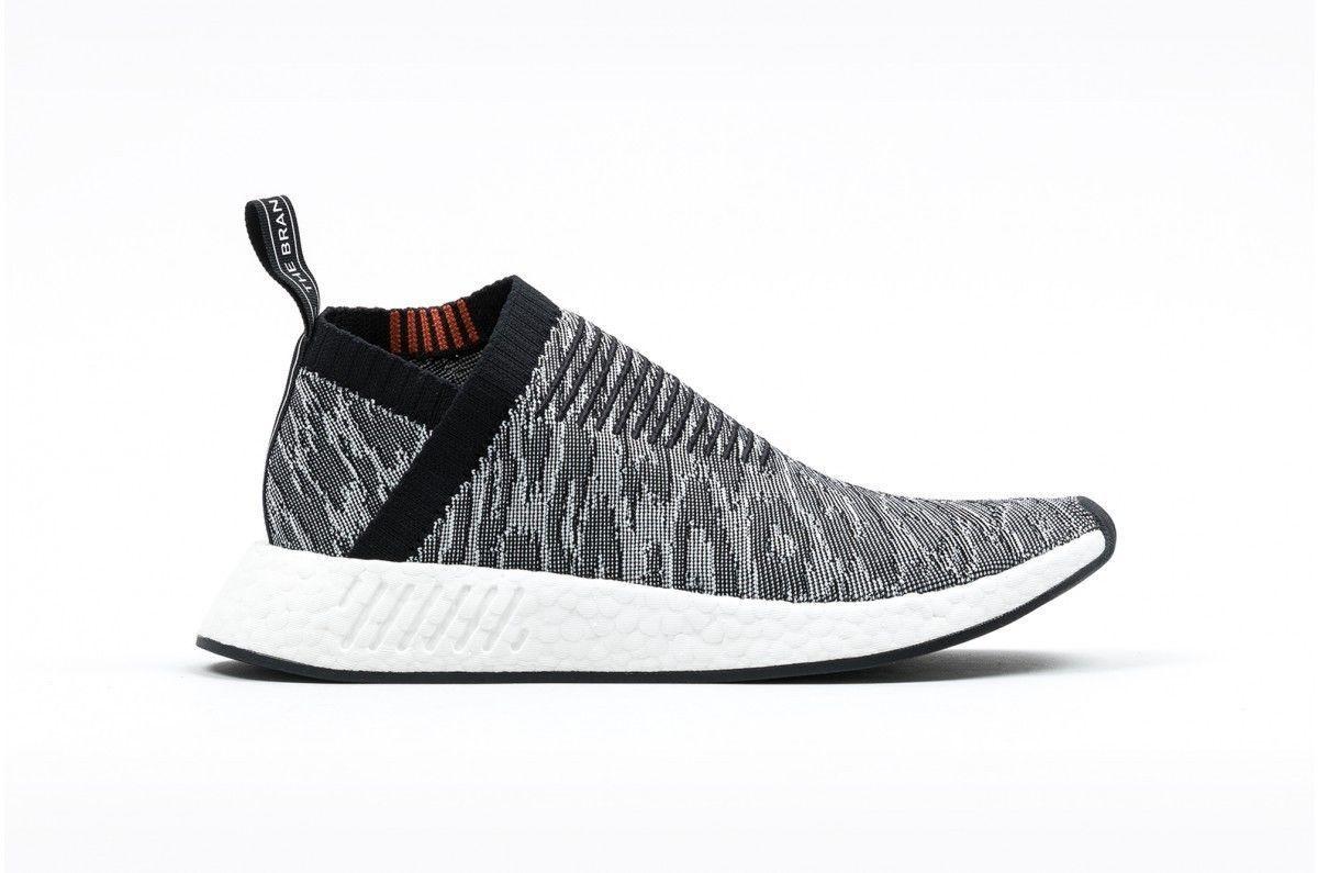 Men's Adidas NMD CS2 City Sock Glitch Camo Black / Red Sz 8 BZ0515