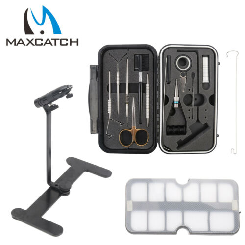 Maxcatch Rotary Fly Tying Vise Travel Alloy Fishing Tool Traveler Fishing Tackle
