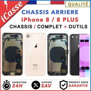 Chassis-Complet-Coque-Arriere-pour-iPhone-8-et-8-Plus-Or-Argent-Gris-Rouge-Noir