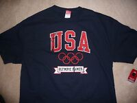 Official Men's Olympic Games Team Usa Tee T-shirt 100% Cotton Olympics