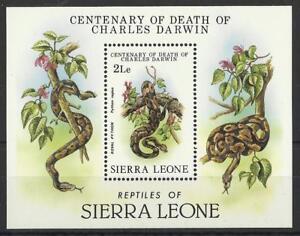 SIERRA LEONE 1982 CHARLES DARWIN REPTILES MINI SHEET MINT - Yeovil, United Kingdom - SIERRA LEONE 1982 CHARLES DARWIN REPTILES MINI SHEET MINT - Yeovil, United Kingdom