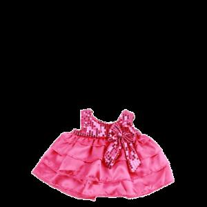 16 NWT Teddy Bear Pink Sequins Girl Candy Dress Fits Build a Bear
