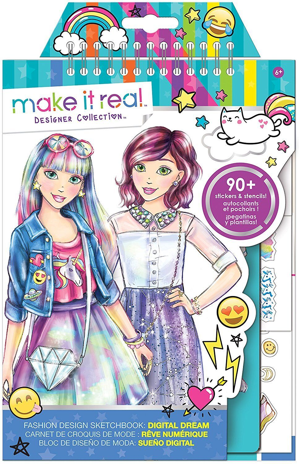 Make It Real - Moda Diseño Cuaderno de Bocetos - Digital Sueño