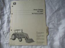 1970 John Deere 58 Farm Loader Parts Catalog Manual Book