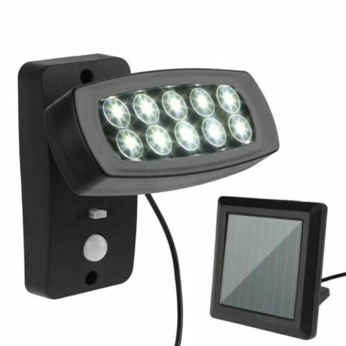 DHL 10 LED Solar Lampe Bewegungsmelder Außenleuchte Garten Wandleuchte Strahler