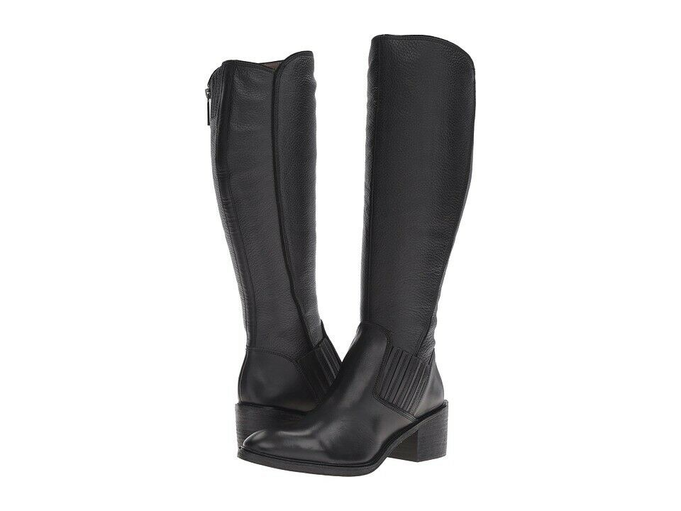 NEW Donald J Pliner Black Leather Envy Tall Boots Round Toe Size 8M Designer