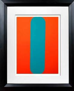 Ellsworth KELLY Lithograph ORIGINAL 1964 Red/Blue LIMITED Ed. w/Custom Frame