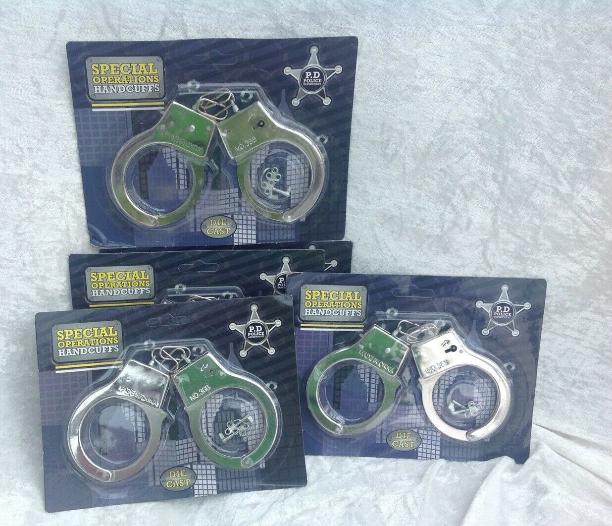 Handcuffs X 24 Metal With Keys Fancy Dress Toy Joblot Stag / Hen Party New