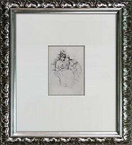 Berthe-MORISOT-Limited-Edition-LITHOGRAPH-The-Lesson-Archival-FRAMING