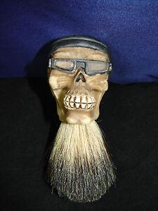 badger hair custom shaving brush biker skull design barber shop