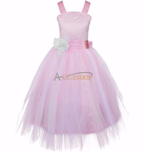 Hot Flower Girl Princess Dress Kid Party Pageant Wedding Bridesmaid Tutu Dresses