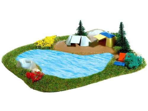 Spur N Busch 8052 See mit Campingplatz NEU
