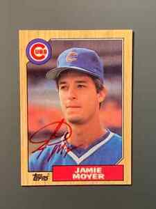 1987 Topps Jamie Moyer Autographed Rookie Card Chicago Cubs