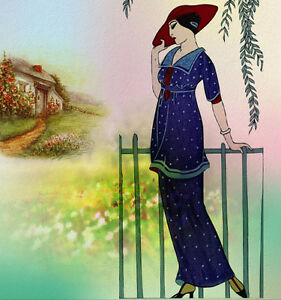 oil-painting-handpainted-on-canvas-034-lady-viewing-her-cottage-garden-034-NO3955
