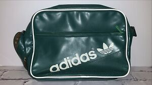 Abuelo Se infla circulación  Vintage años 90 Adidas Verde Deportes Mochila Bolso Bolsa de mensajero del  ordenador portátil de Raro | eBay