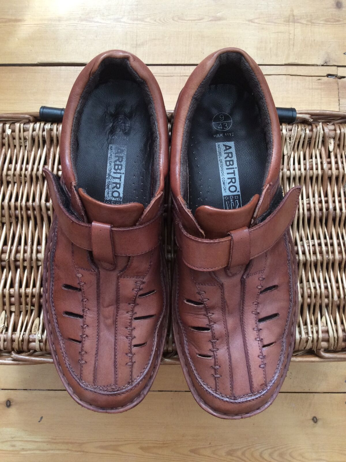 Mens Arbitro Orthopaedic Brown Uk 9 Shoe With Cut Outs