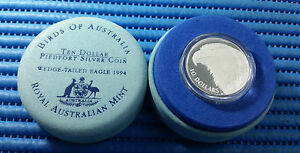 1994-Birds-of-Australia-Wedge-Tailed-Eagle-10-Silver-Piedfort-Silver-Proof-Coin