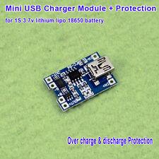 5V Mini USB Li-ion 18650 Lithium 3.7V Battery Charging Charger Module Protection