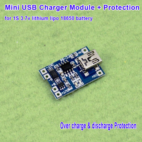 18650 Lithium LiPo Battery Charging Board 1A Mini USB Charger Module Protection
