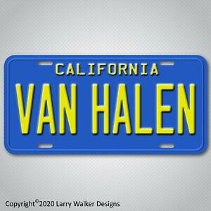 Van-Halen-Blue-California-Aluminum-License-Plate-Tag-New