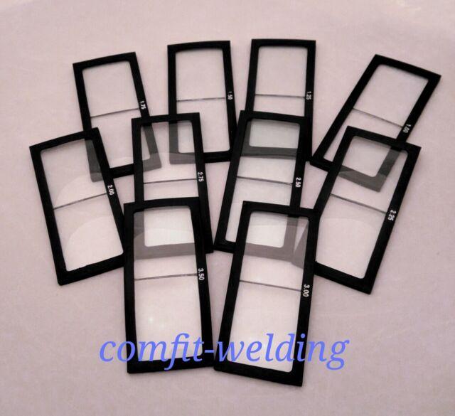 1.50 diopter 2 x 4.25 2 EACH Welding helmet magnifier//cheater lens GLASS